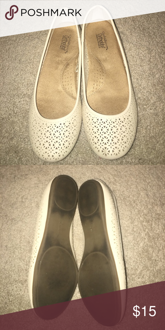 738b33816 Eyelet ballet flats Cream colored eyelet ballet flats. Only worn 3-4 times  so they do have dirt on the bottom, but can easily be cleaned. croft &  barrow ...