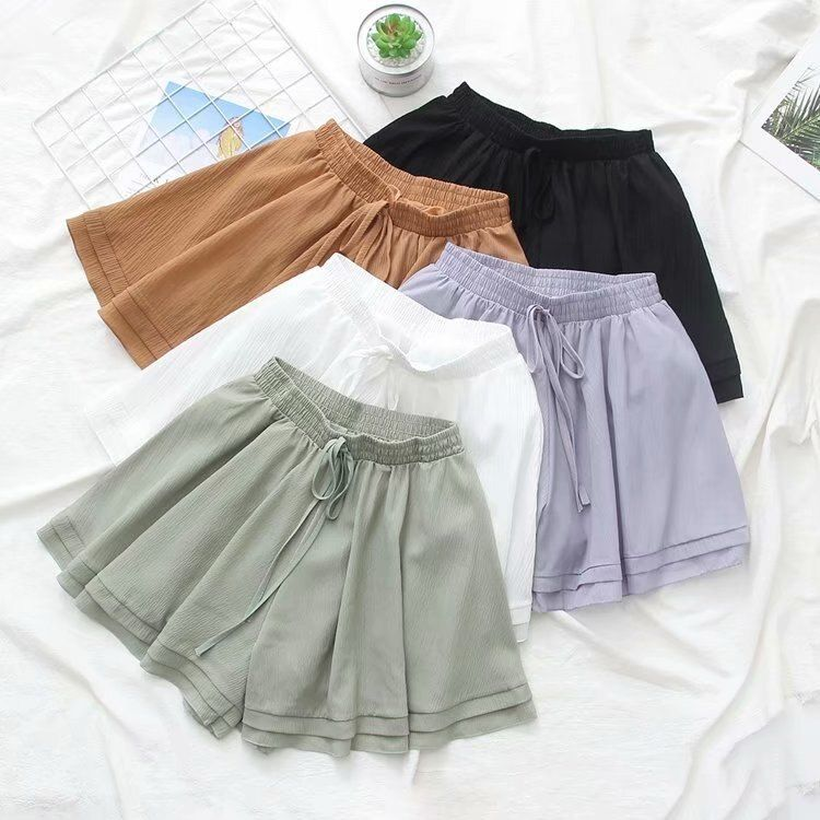 US $9.89 20% OFF|Chiffon Shorts Women Summer 2019 Spring Fashion Classic Black White Green High Waist Mini Short Hot Female Shorts|Shorts|Women's Clothing - AliExpress