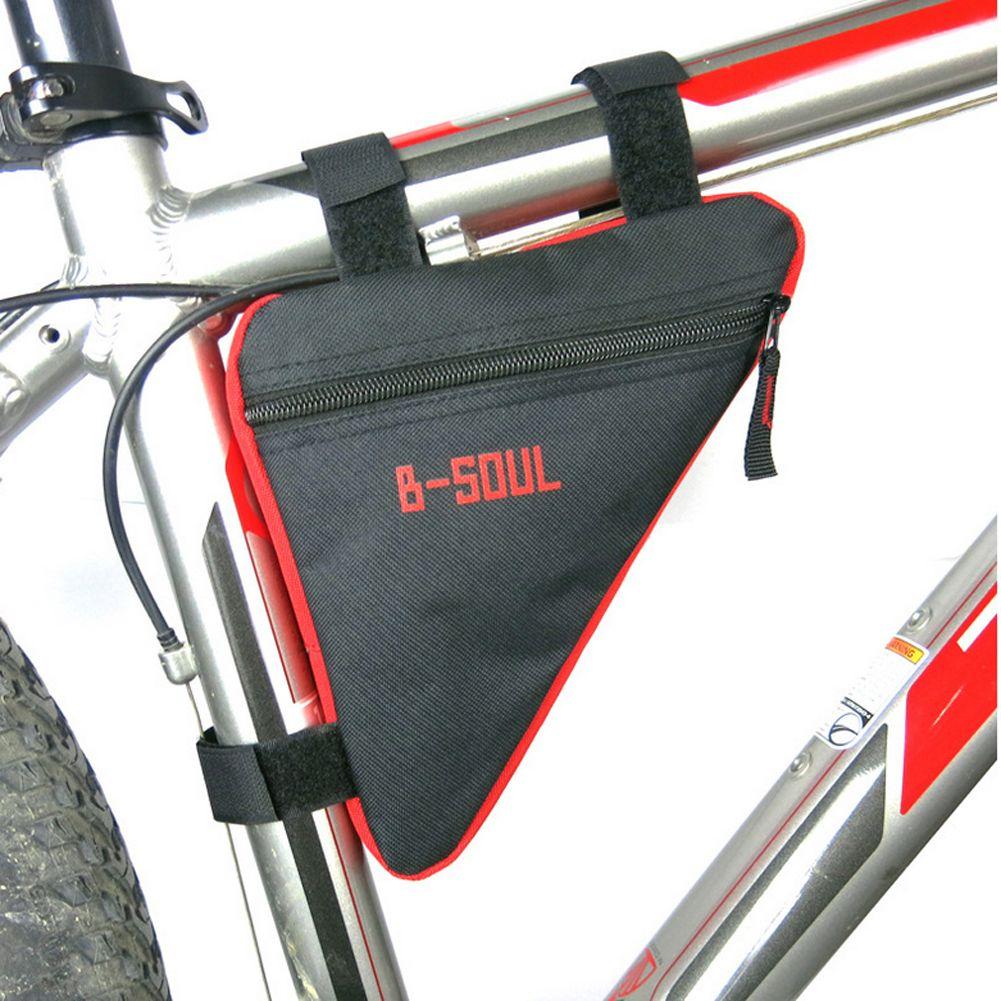 휴대용 자전거 자전거 전면 안장 가방 지갑 삼각형 가방 자전거 핸들 튜브 프레임 파우치 프레임 홀더 안장 파니 가방