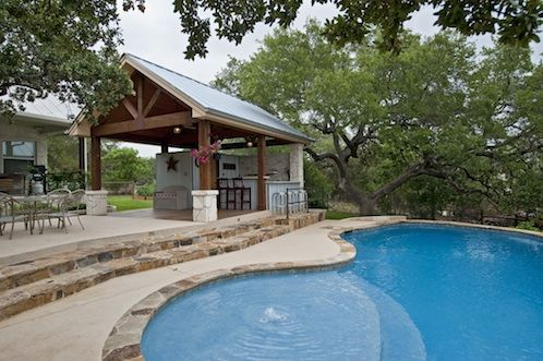Pool cabana for the house pinterest shallow pool for Outdoor pool cabana