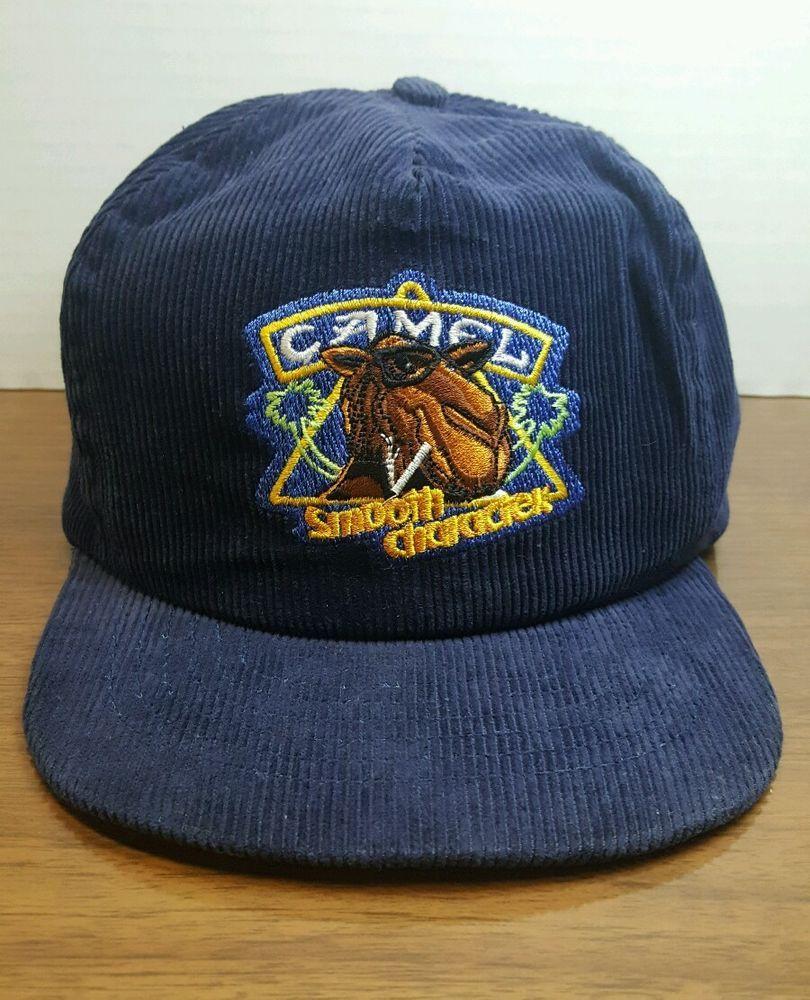 6d79d187 Vintage Joe Camel Blue Corduroy SnapBack Hat Cap Cigarettes Smoking Palm  Trees #BaseballCap