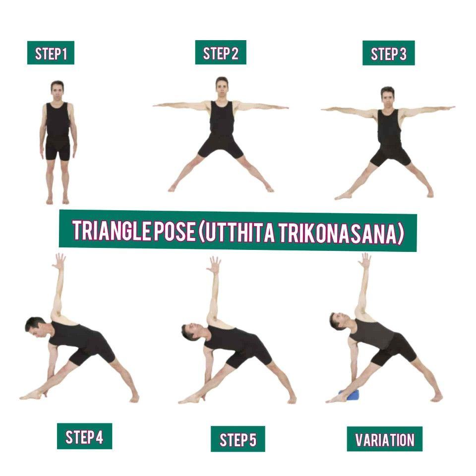 Utthita Trikonasana Extended Triangle Pose Triangle Pose Poses Warrior Pose
