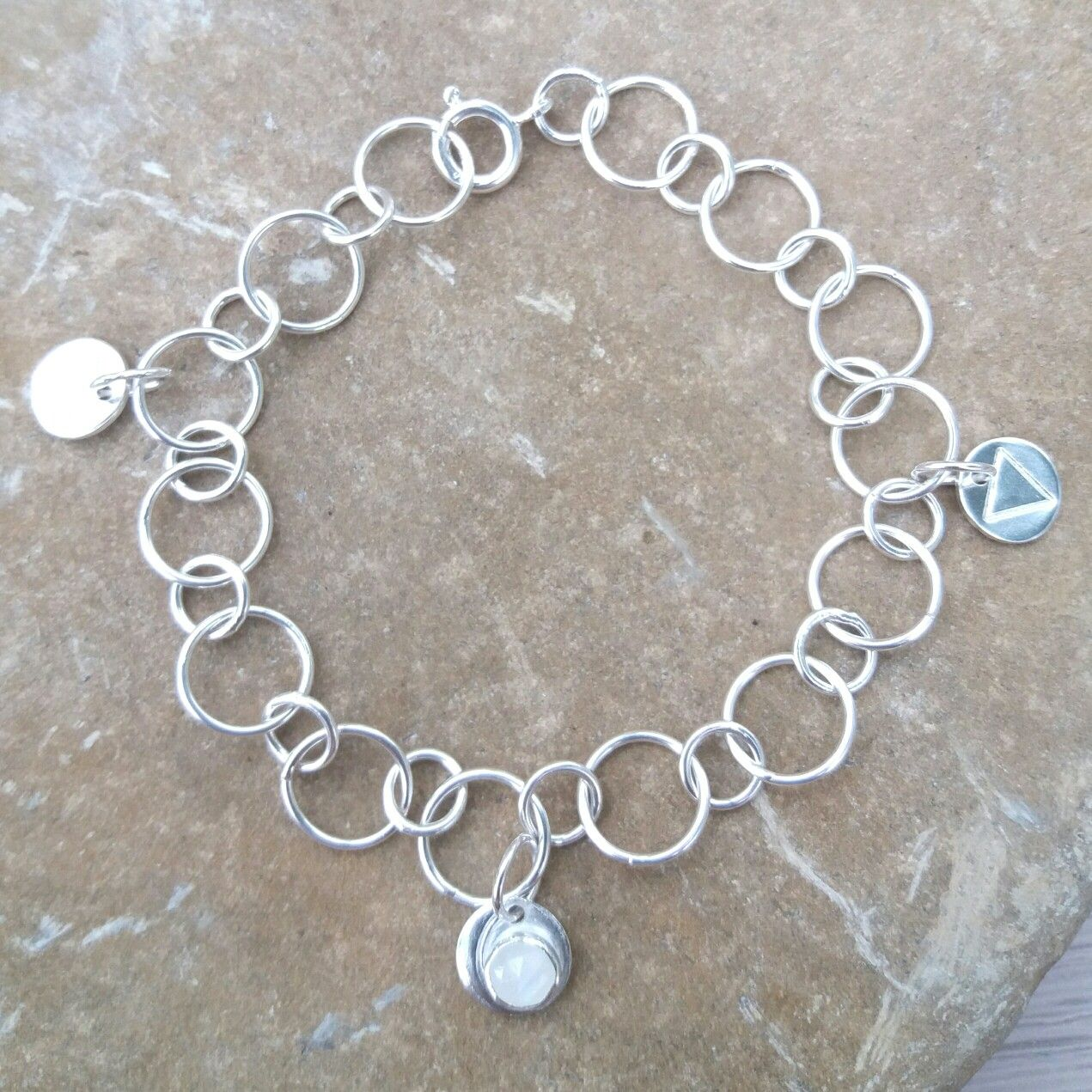 Sterling silver charm bracelet with symbol for cancer the element sterling silver charm bracelet with symbol for cancer the element water and the moon buycottarizona