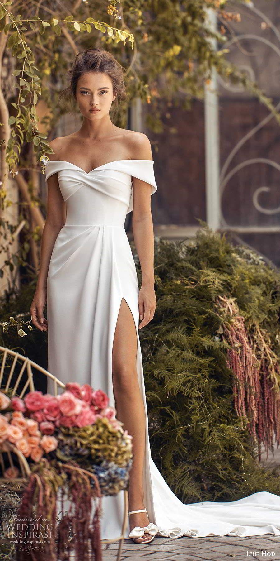 Lihi Hod Fall 2020 Wedding Dresses White Blossom Bridal Collection Wedding Inspirasi Column Wedding Dress Wedding Dresses Wedding Dress Guide [ 1800 x 900 Pixel ]