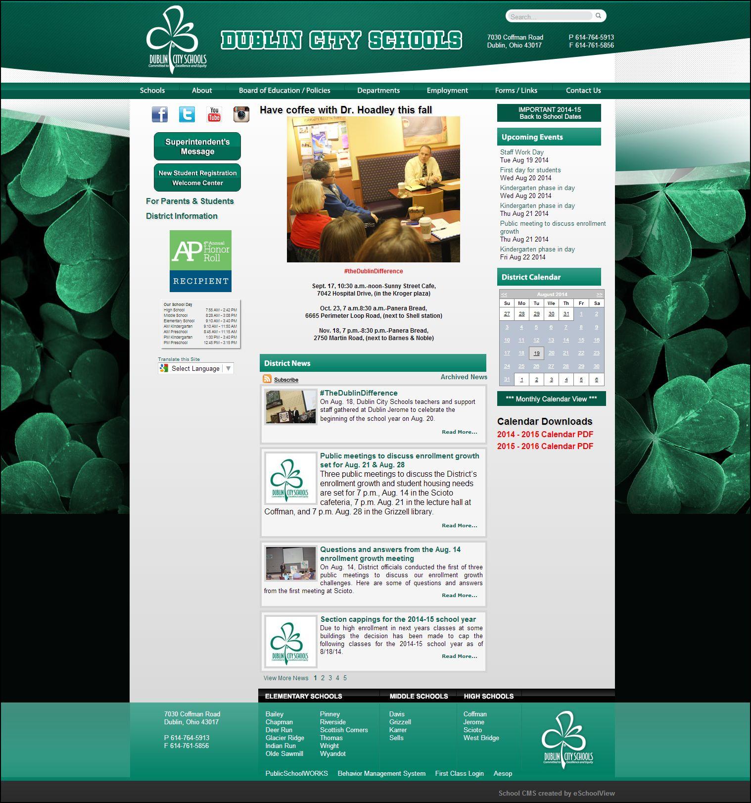 Dublin City Schools Dublin Ohio Dublin City Dublin School