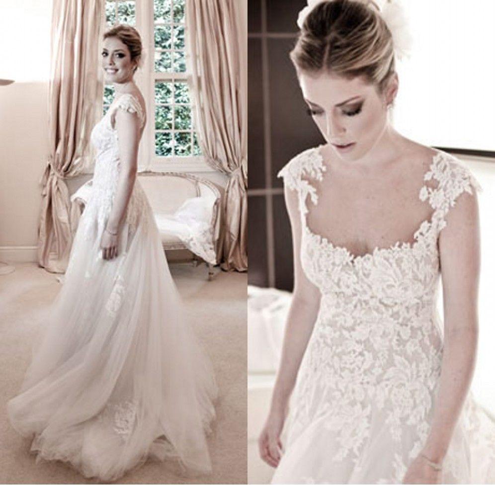 Sexy Vestidos de noiva white 2014 Wanda borges vintage soft tulle ...