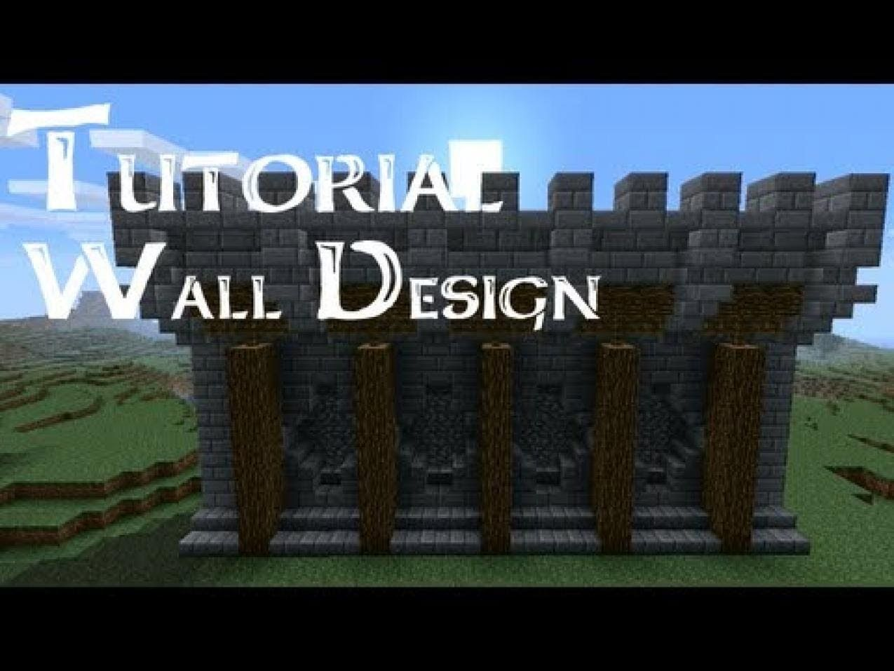 A Tutorial About New Wall Design Can Be Used For Castles Or As Citywalls No Bloopers P If You Have Sugg
