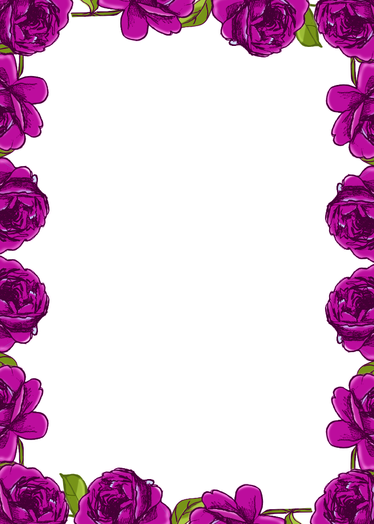 Purple borders and frames free digital purple rose frame for Frame designs