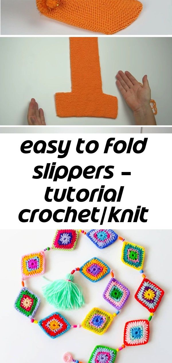 Easy to fold slippers  tutorial crochetknit Easy to Fold Slippers  Tutorial CrochetKnit  Design Peak How to Crochet for Beginners With 45 Images Easy and Beautiful 2019...