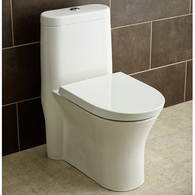 elongated front 1-piece toilet, cosette, 3,5 l/4,8 l, white | rona, Badezimmer