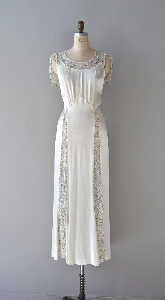 1930s wedding dress / vintage 30s wedding dress / by DearGolden ...