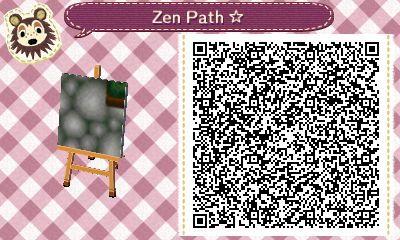 Animal Crossing Paths Round Stone Zen Path Green Border 4