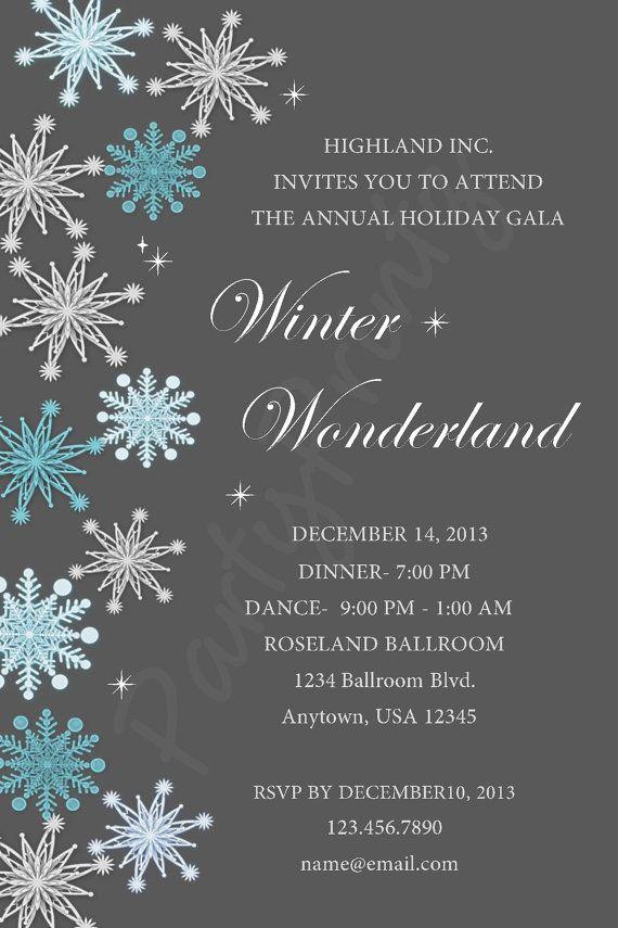 Printable Winter Wonderland Christmas Party by PartyPrintz, $15.00 ...