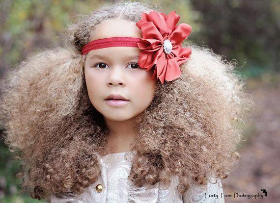 Holiday Headband  Baby Headband  Flower Headband by PoshLittleTots, $11.95