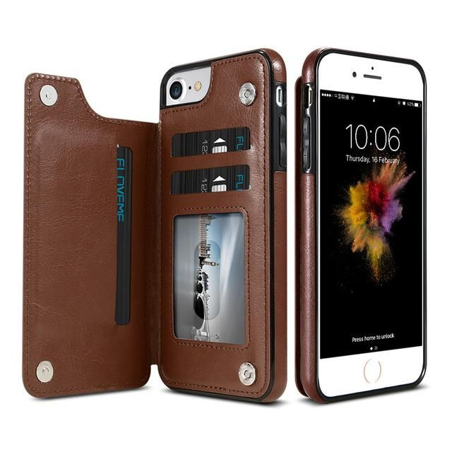 2148be3bf KISSCASE Magnetic Flip Wallet Leather Case for iPhones and Samsung Pho –  Titanwise