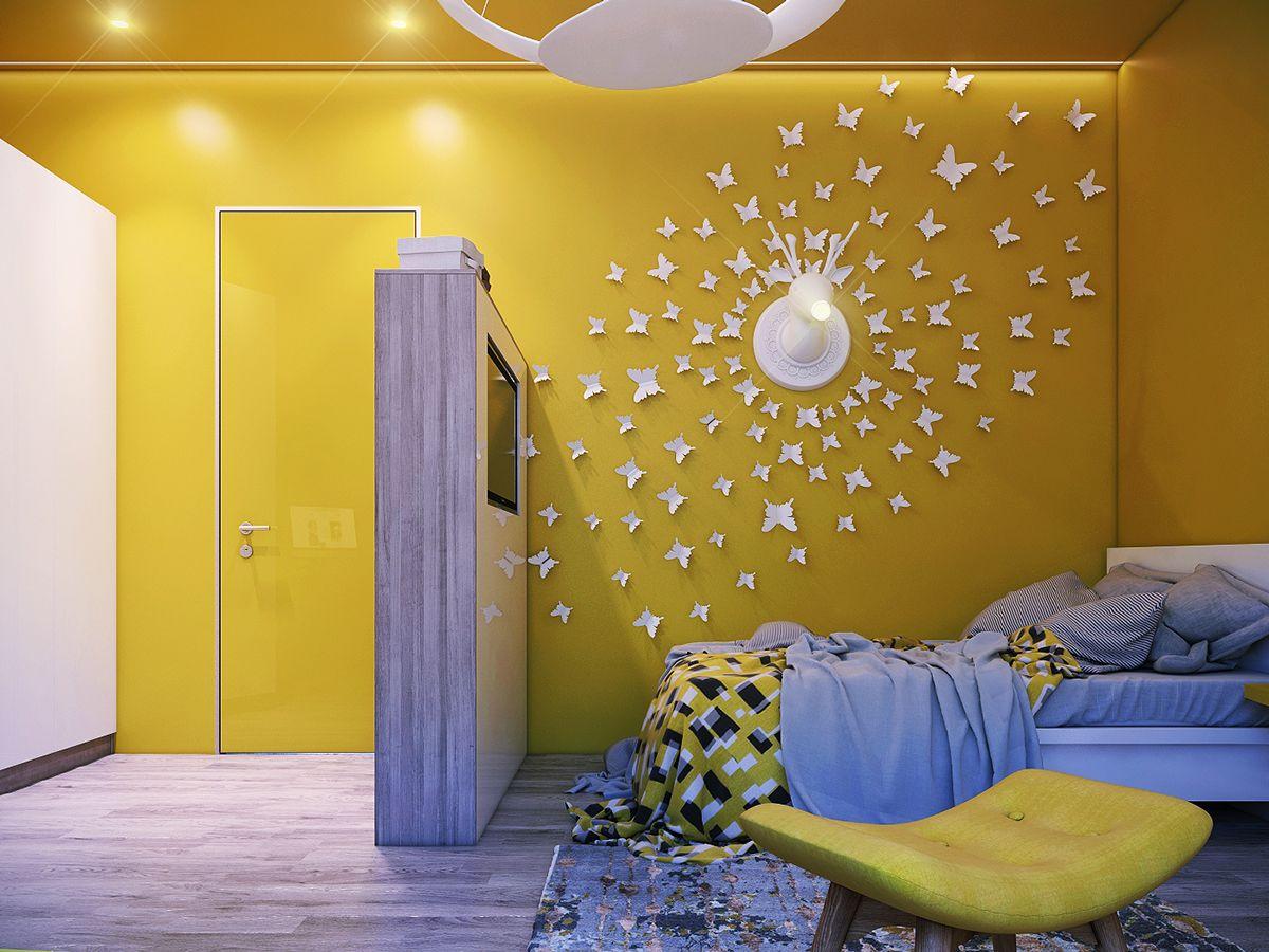 15 Id Es Pour D Corer Les Murs D Une Chambre D Enfant Murs  # Dressing A Mettre Dans Une Chambre Sur Un Mur Entier Avec Tele Incorporee