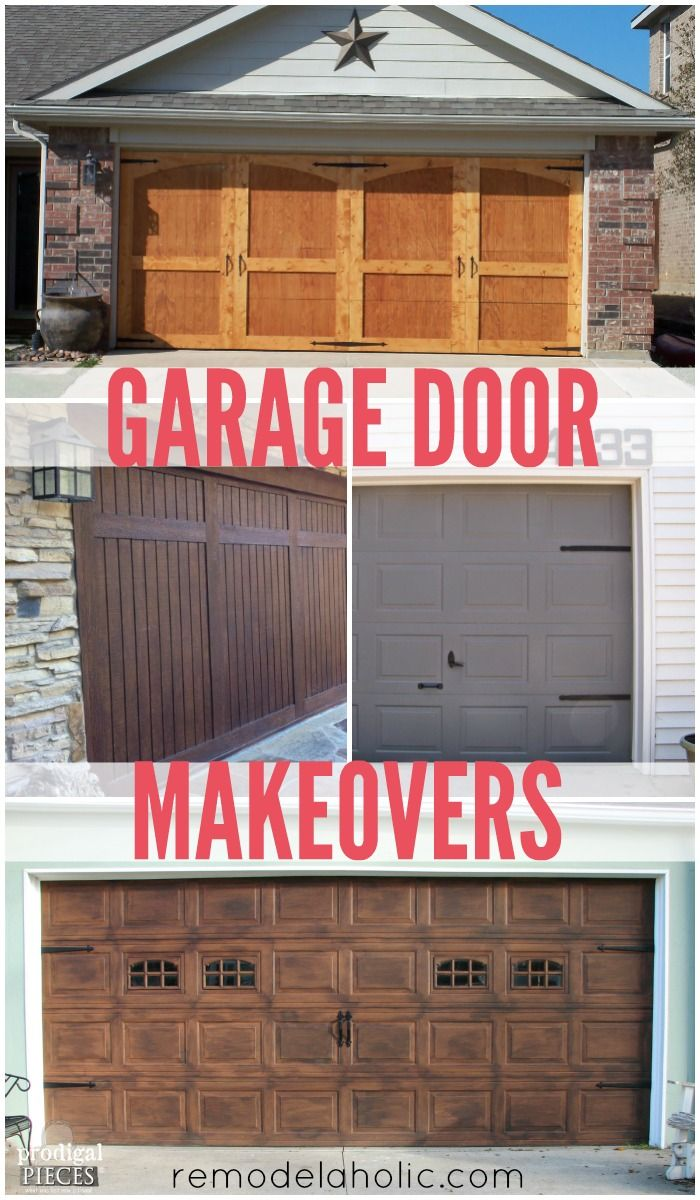 DIY Garage Door Makeovers Remodelaholic Diy garage door