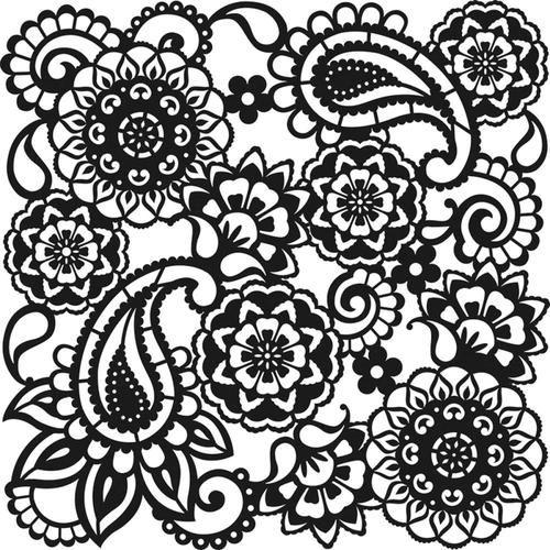 "Viva Decor Large Background Stencil 11.4/""X11.4/""-Paisley"