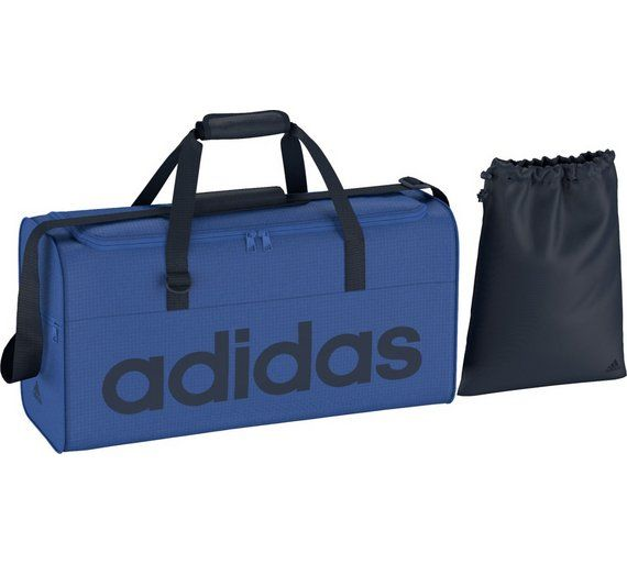 Buy Adidas Linea Blue Medium Holdall and Gymsack at Argos.co.uk - Your 1ec130fc57387