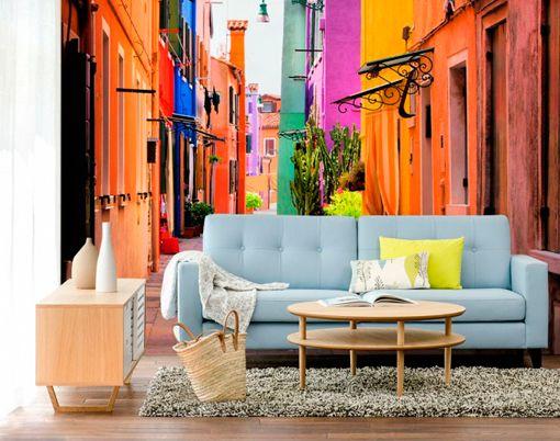 Papeles pintados murales: calle de Burano