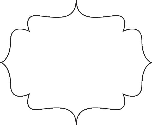 clip art black and white | Black and White Bracket Frame ...