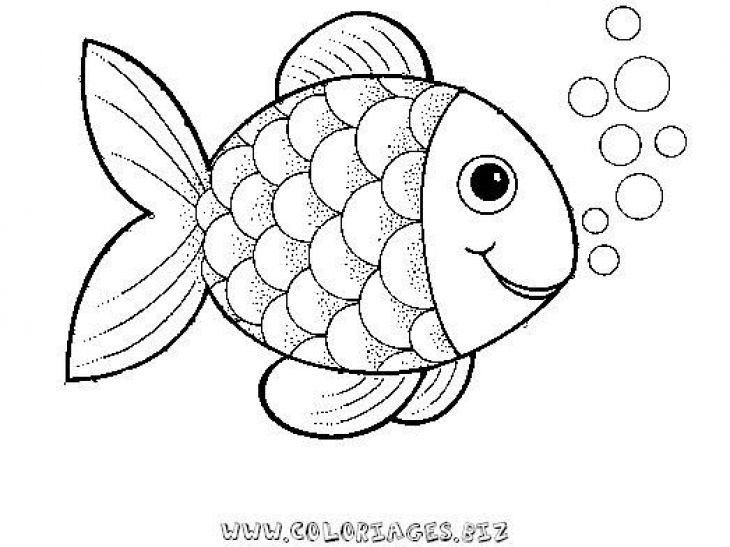 Preschool rainbow fish coloring sheet to print for free for Fish coloring pages for preschool