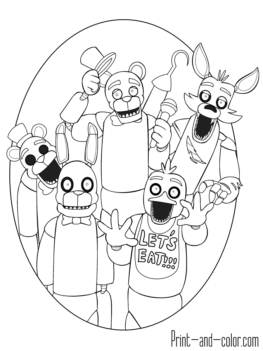 Five nights at freddy\'s colors ... | Birthday Party Ideas ...