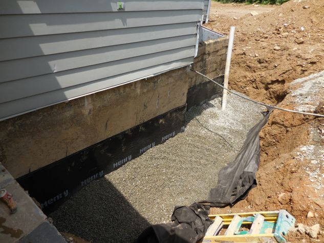Foundation drain and waterproof membrane basement for Best way to build a basement