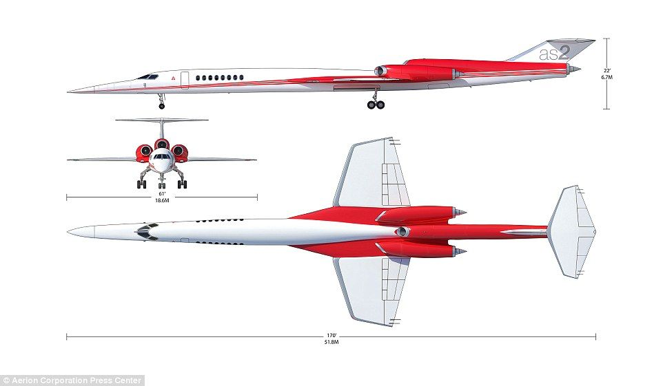 Son of concorde will fly in 2021 reveals airbus concorde the aerion as2 business jet will fly at a top speed of 1217 mph 1960 malvernweather Images