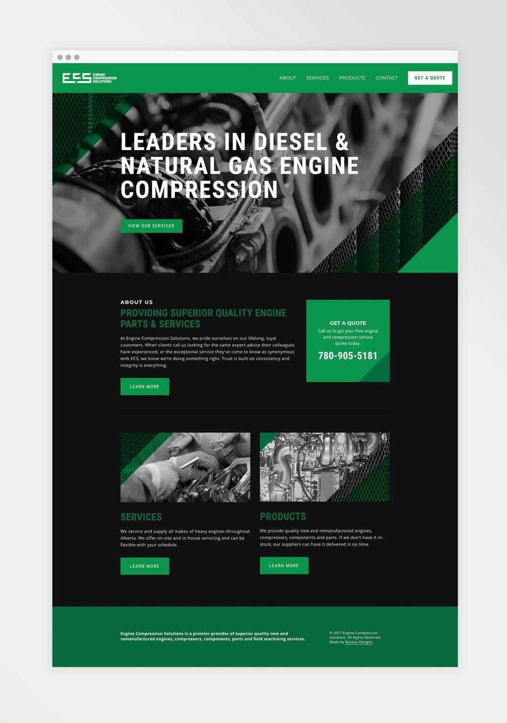 Engine Compression Solutions Website Design And Development Natasia Designs An Illustrator Graph Online Web Design Web Design Quotes Simple Website Design