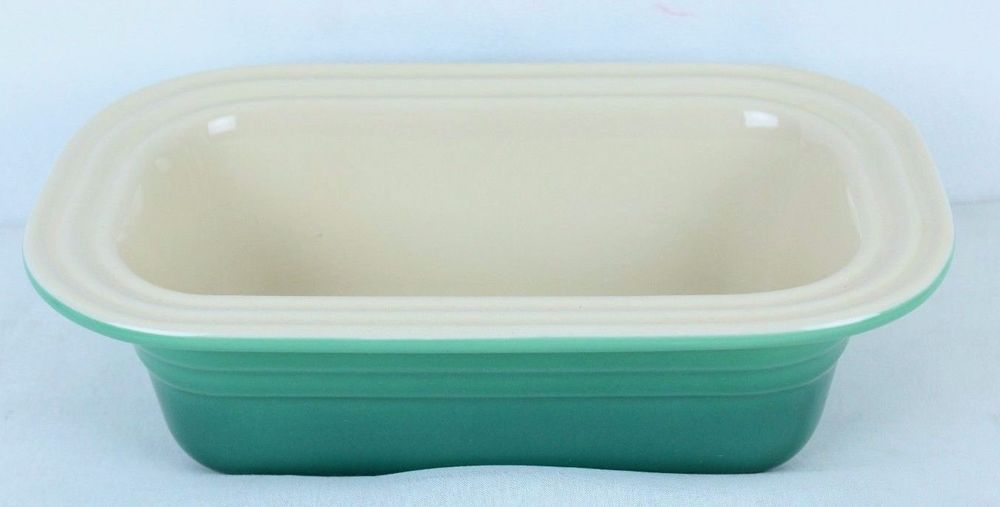 Le Creuset Poterie Stoneware Green 1.25 Qt Deep Dish Loaf Bread Pan
