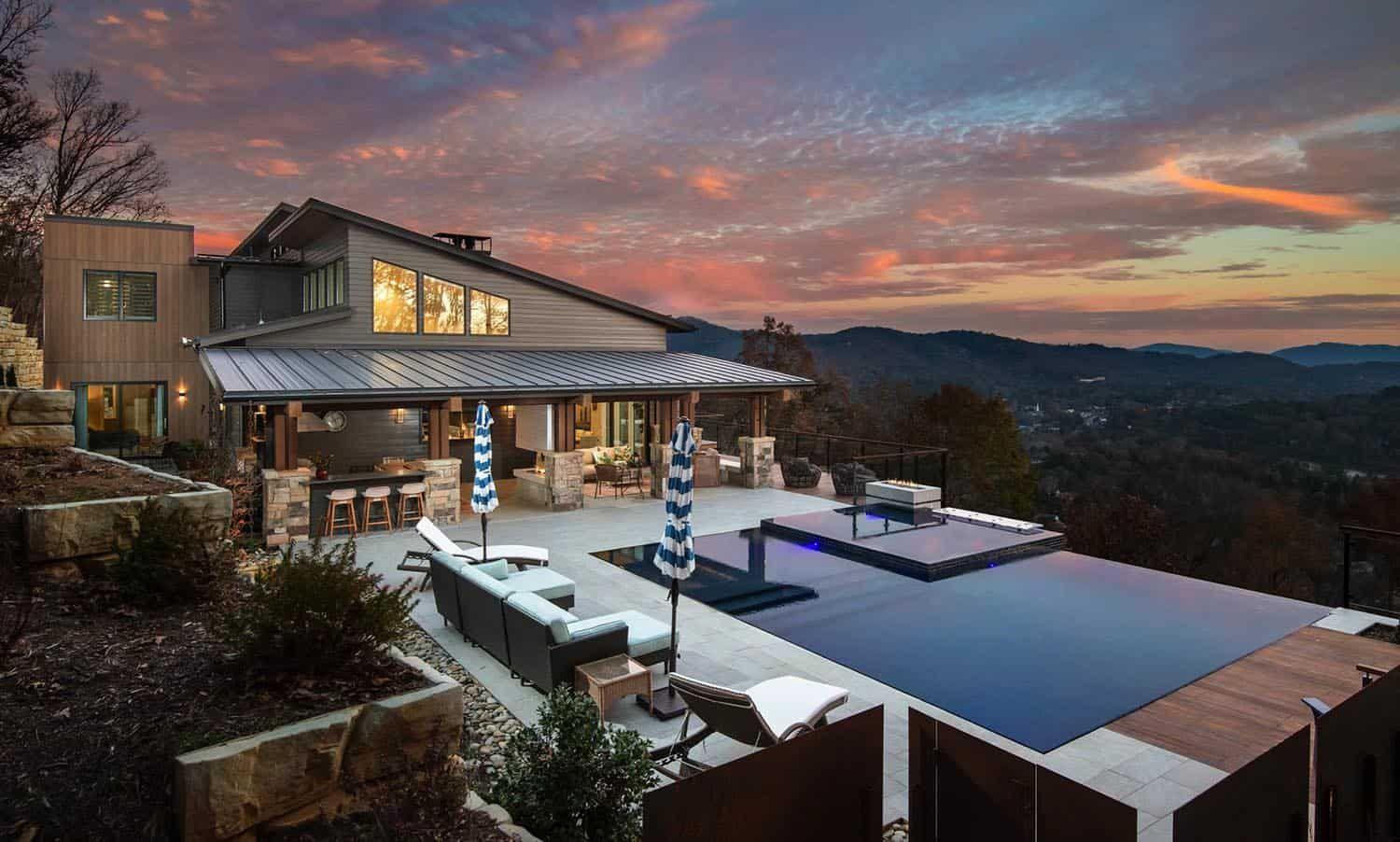 Beautifully Inspiring Mountain Home Nestled In The Blue Ridge Mountains In 2020 Mountain Home Pool Remodel Pool Houses