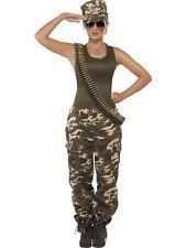 Smi Karneval Damen Kostüm Militär Soldatin Camouflage Uniform