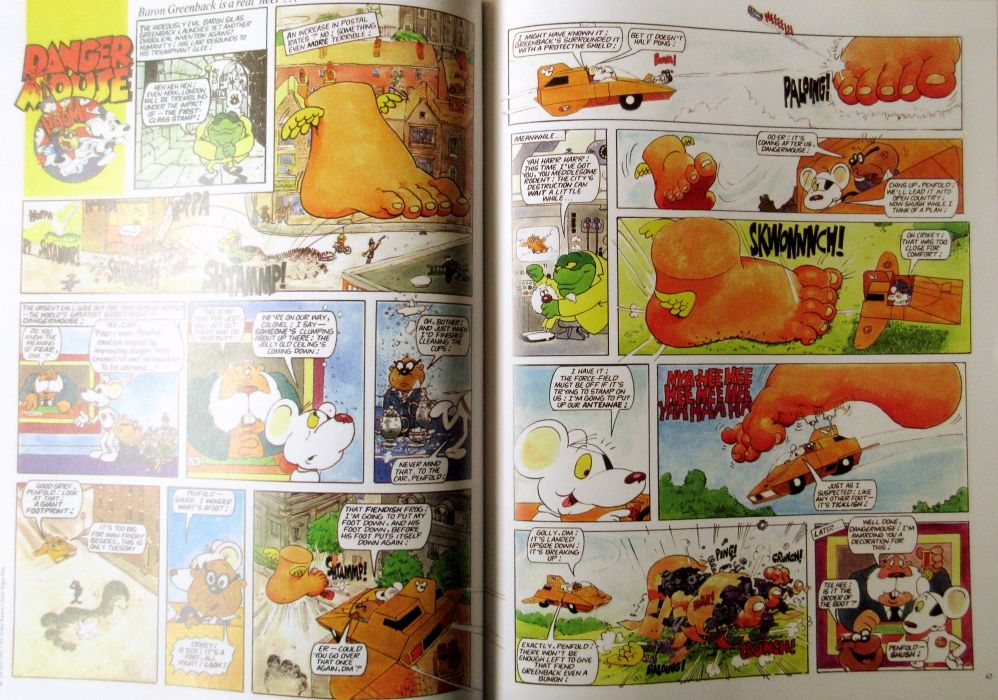 Danger Mouse comic strip.  Look-in Best of the 80's.