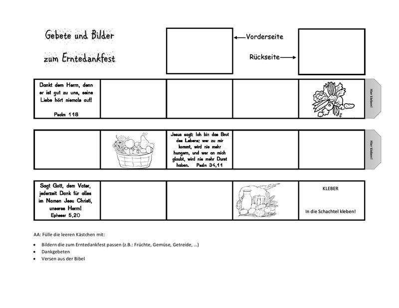 Arbeitsblatt Erntedank-Memory | Erntedank | Pinterest | Erntedank ...