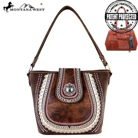 Montana West Embroidered Concealed Hobo