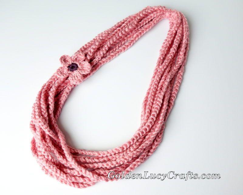 Crochet Chain Scarf, Necklace, Free Crochet Pattern