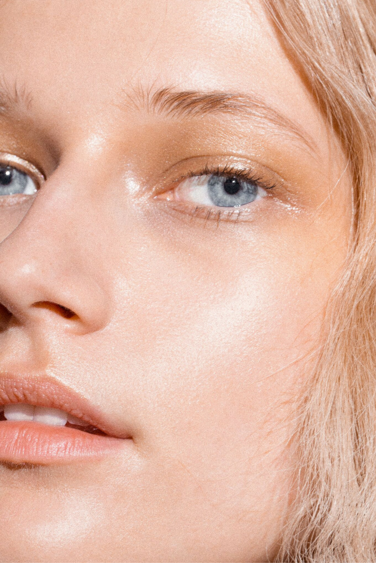 Find Your Light—Ella wears Glossier Haloscope in Topaz Dewy Makeup Look, Glossy Makeup