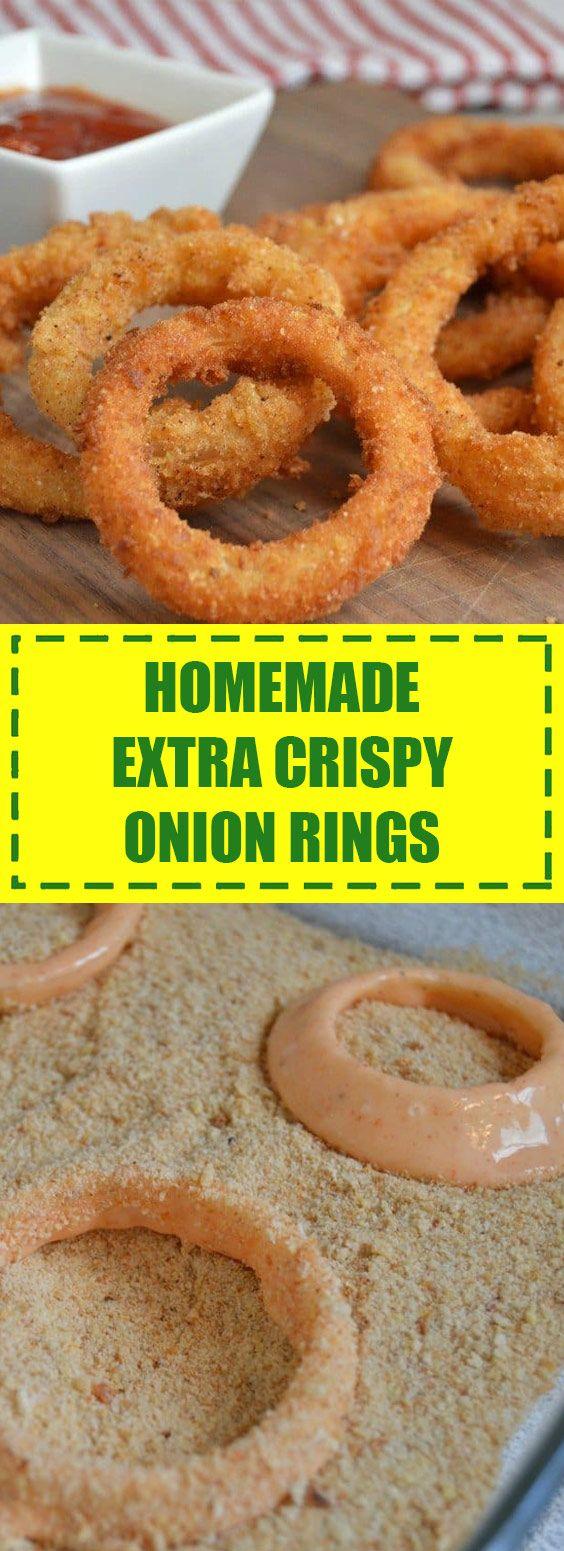 Homemade Extra Crispy Onion Rings Resep Makanan Resep Makanan Pembuka Bawang