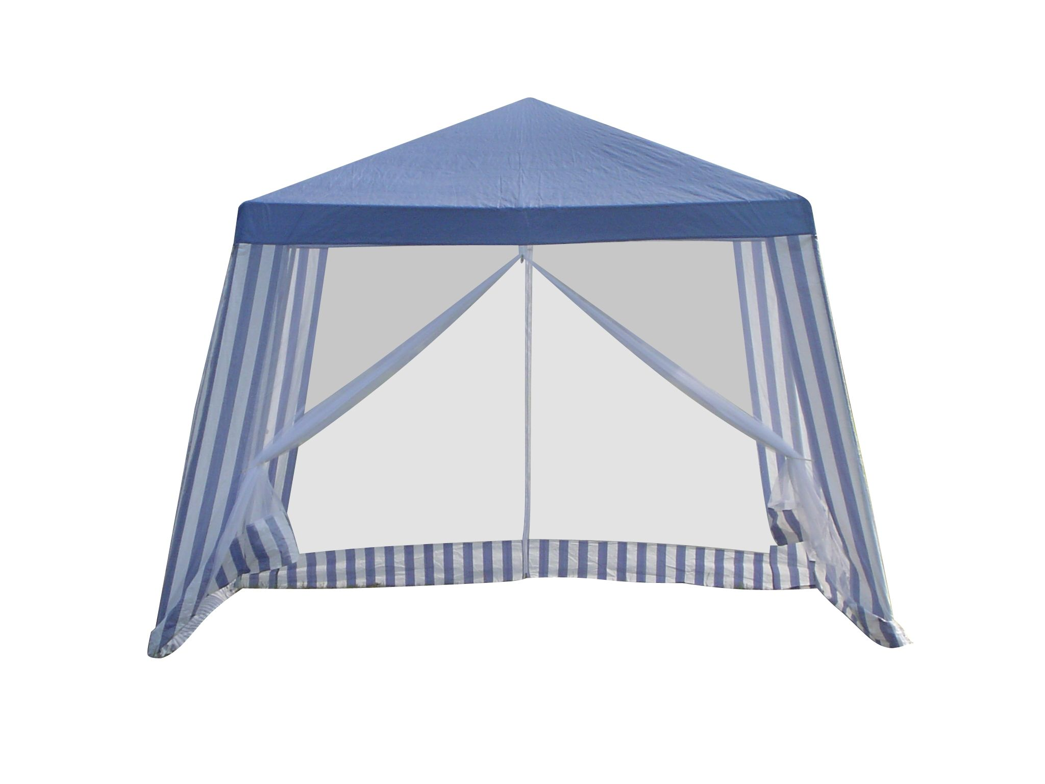 Pop Up Gazebo Bunnings Gazebo Non Perm Marquee 3x3m Blue White Stripe Bunnings
