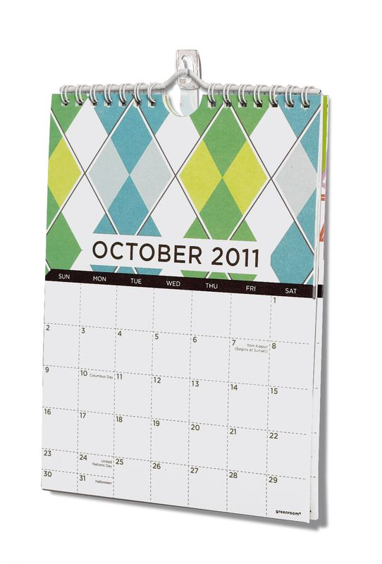 Hang A Wall Calendar Using Command Clear Mini Hooks