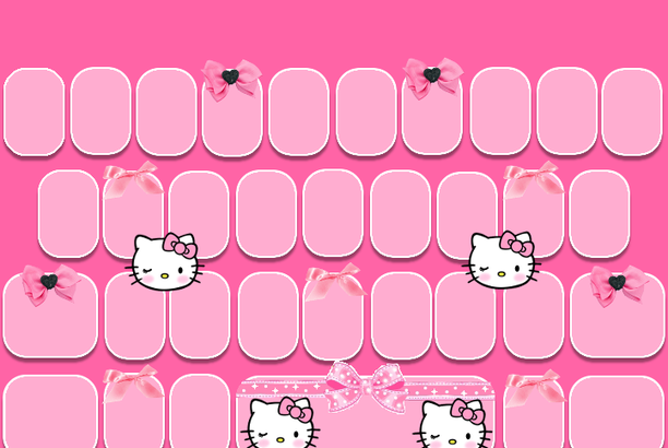 Blush Kitty Go Keyboard Skin Freebie Pretty Droid Themes Teclado Fondos Para Teclado Barra De Labios