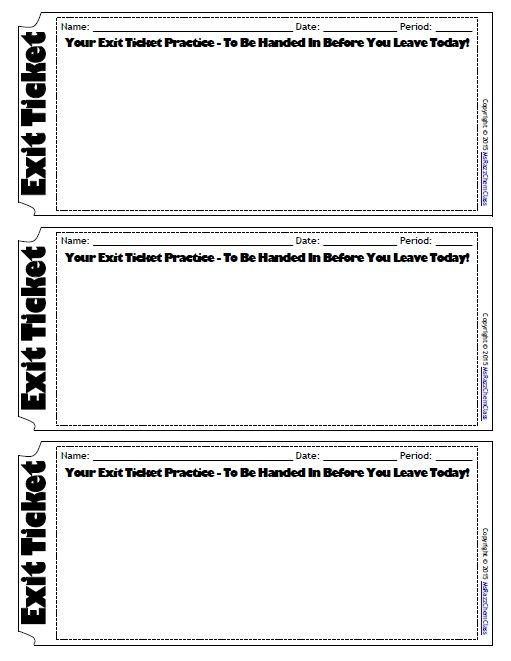 Exit Ticket Template  Looking For An Easier Way To See If Your