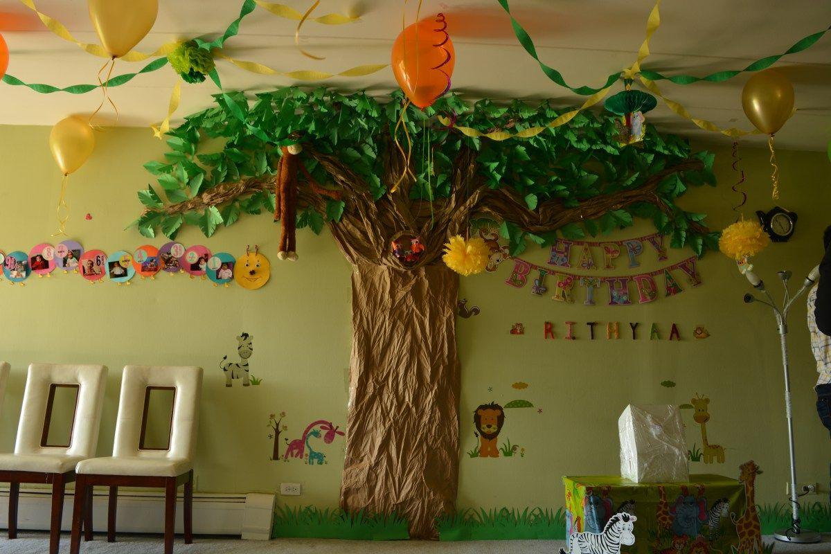 Jungle Theme Birthday Decoration Ideas Jungle Decorations Jungle Party Decorations Diy Jungle Theme Classroom Decorations