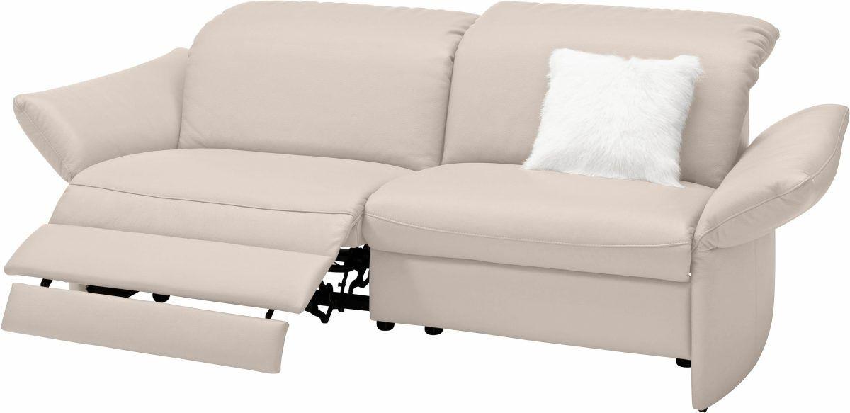 2 Sitzer Sofa Viviana Beige Mit Motorischer Relaxfunktion