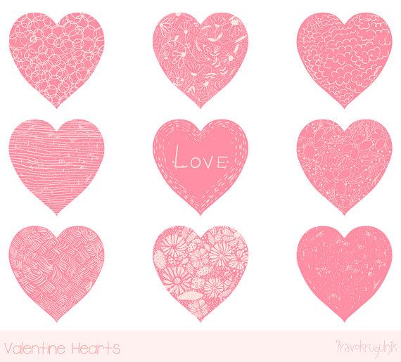 valentine heart clip art pink heart clipart hand drawn heart rh pinterest com free cute heart clipart cute heart clipart png