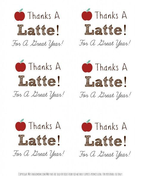 photo regarding Thanks a Latte Printable Tag named Trainer Appreciation Free of charge Printable - Owing A Latte