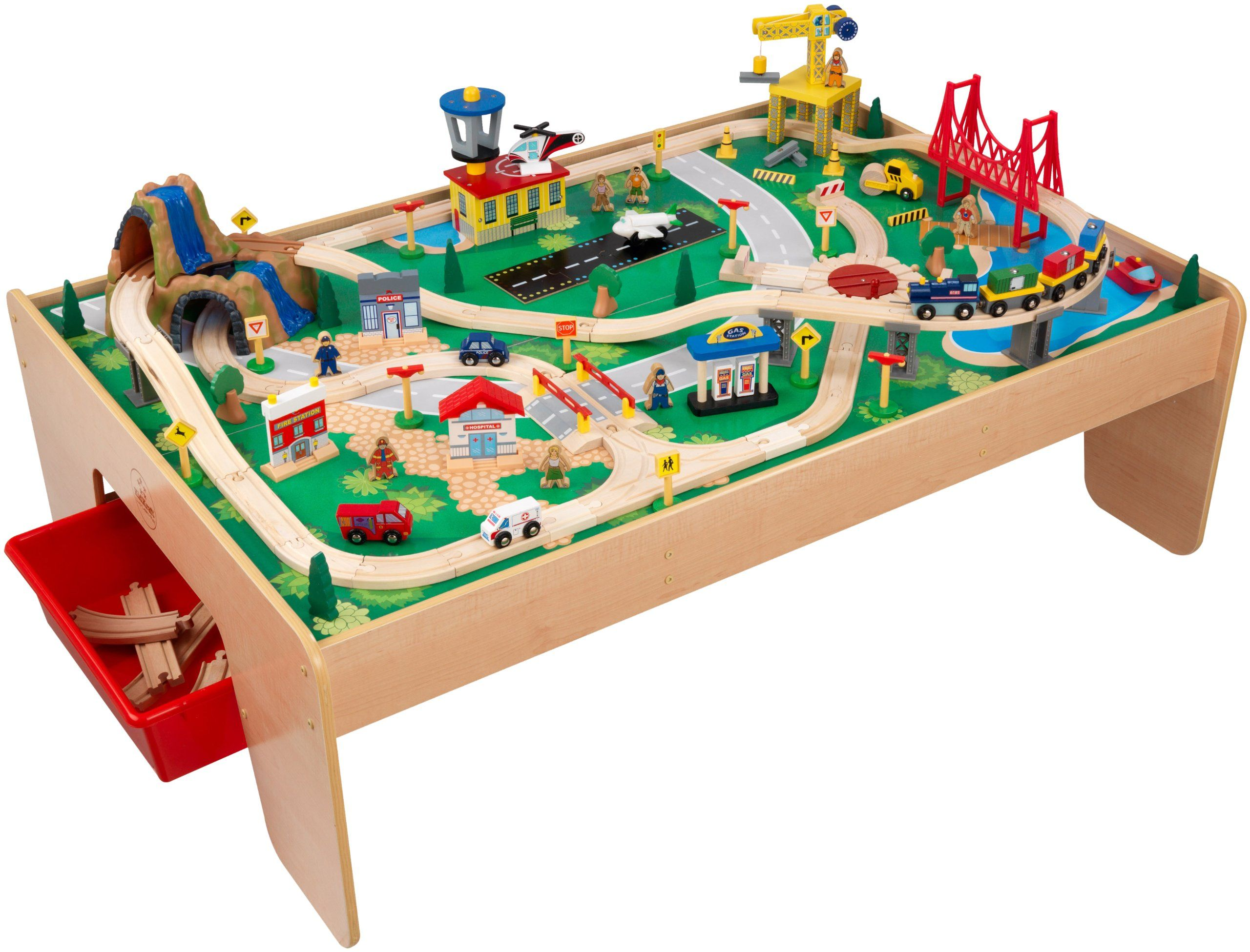 KidKraft Waterfall Mountain Train Set and Table  sc 1 st  Pinterest : train set table for kids - pezcame.com