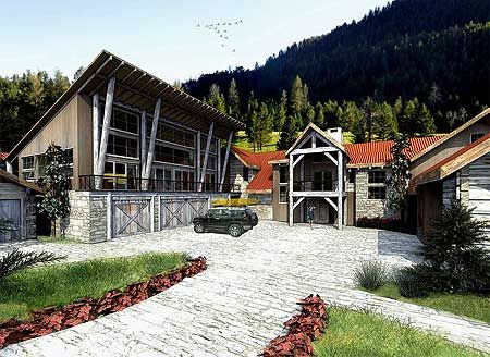 Spacious New Western Home Plan House Plans Architectural Design House Plans Front View Of House