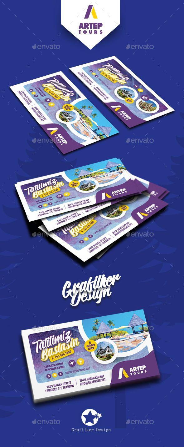 Travel Tour Business Card Templates | Diseño grafico publicitario ...